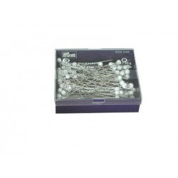 Glass headed pins  White 48mm x 0.80mm 30 g box