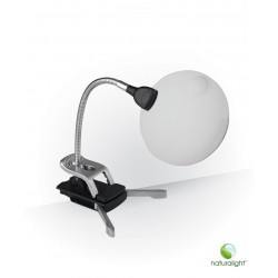 Flexible arm magnifier with LED light